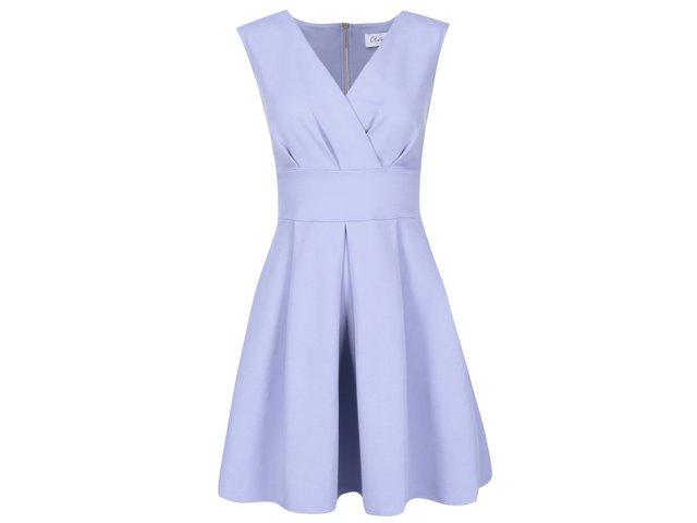 Světle modré šaty s áčkovou sukní Closet