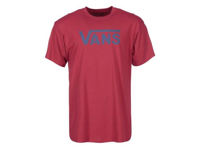 Červené pánské triko s logem Vans Classic