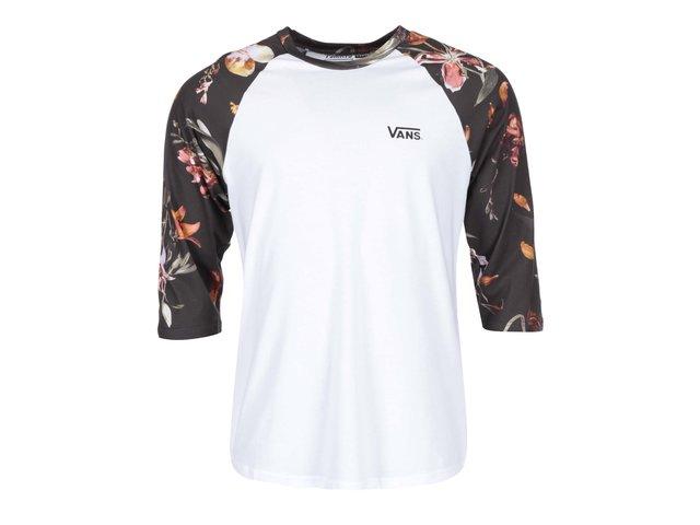 Bílé pánské triko s potištěnými rukávy Vans Raglan