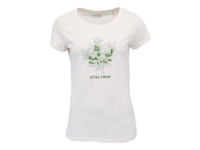 Krémové dámské triko ZOOT Originál Oliva
