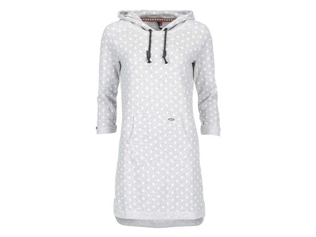 Šedé mikinové šaty s puntíky Ragwear Bess