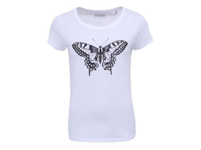 Bílé dámské triko ZOOT Originál Motýl