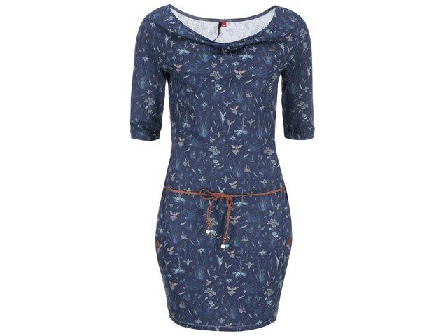 Modré šaty s potiskem Ragwear Tanya
