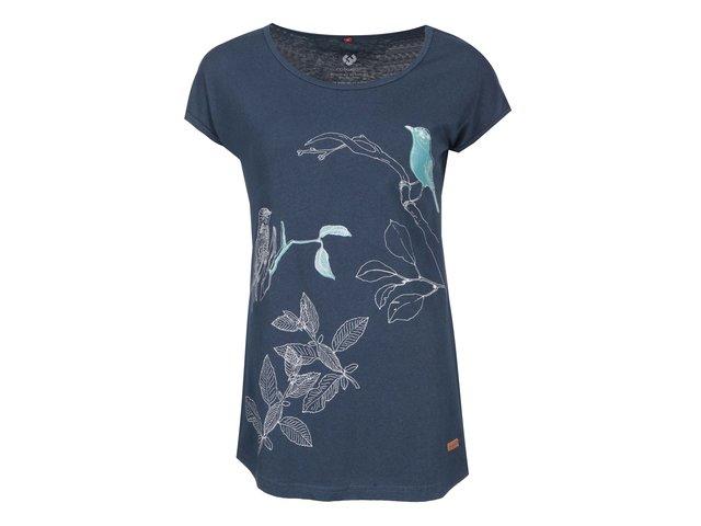 Tmavě modré dámské triko s potiskem Ragwear Alpha