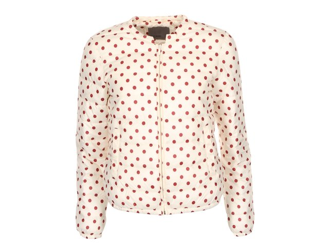 Krémová bunda s červenými puntíky Vero Moda Circles