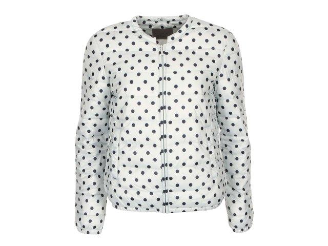 Mentolovošedá bunda s puntíky Vero Moda Circles