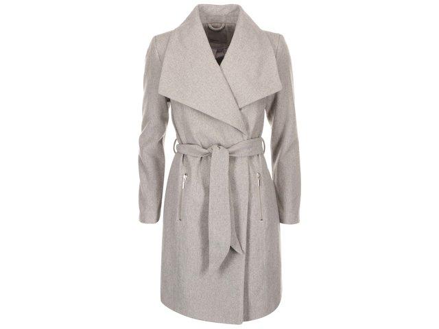 Světle šedý kabát Vero Moda Kate