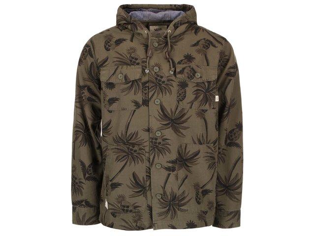 Khaki pánská bunda s palmami Vans Lismore