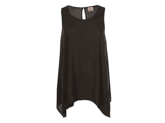 Černý asymetrický top Vero Moda Cona