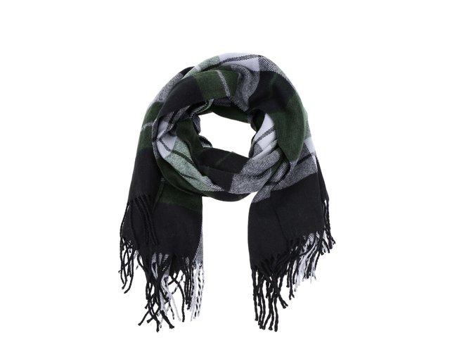 Zeleno-černá kostkovaná šála Vero Moda Checko