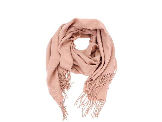 Růžová šála Vero Moda Solid