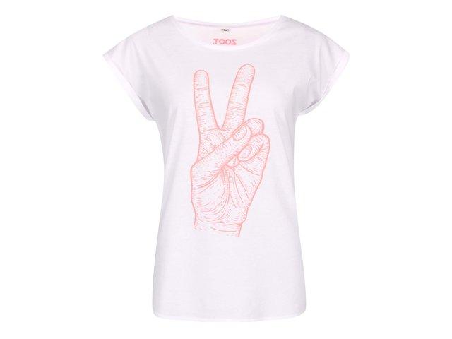 Bílé dámské tričko ZOOT Originál Velkej peace