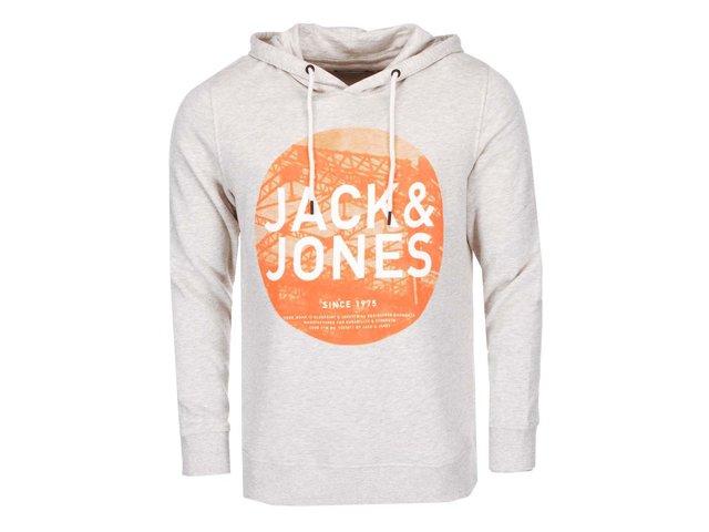 Světle šedá mikina s potiskem Jack & Jones Davy