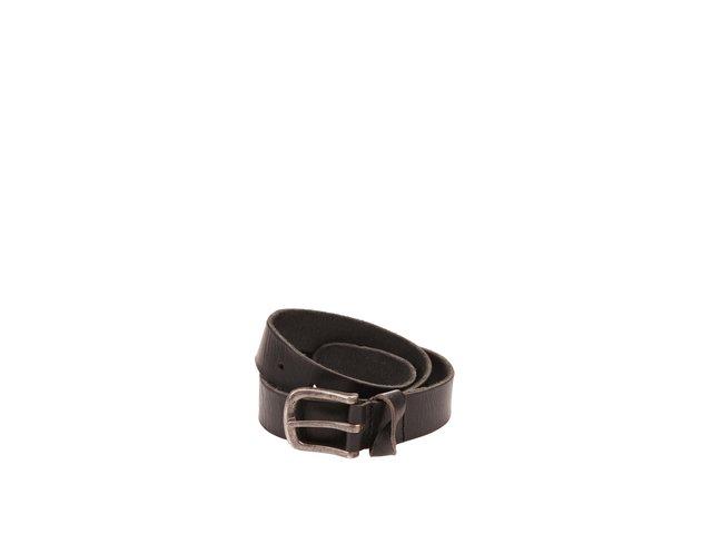 Černý kožený pásek Jack & Jones Twist