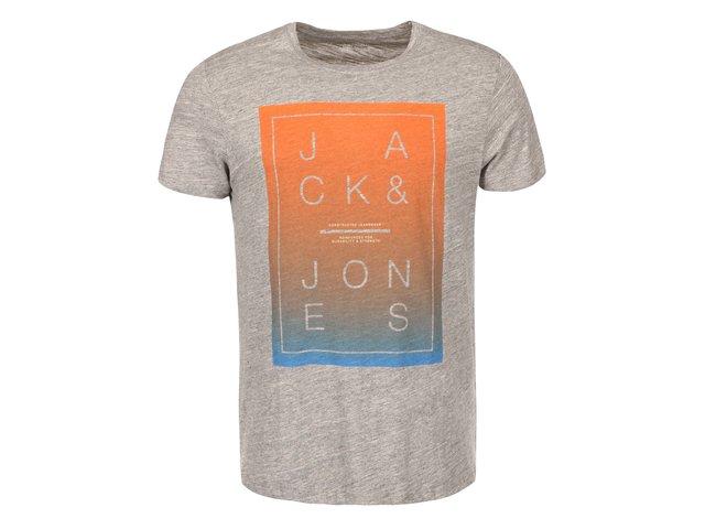 Světle šedé triko Jack & Jones Fade