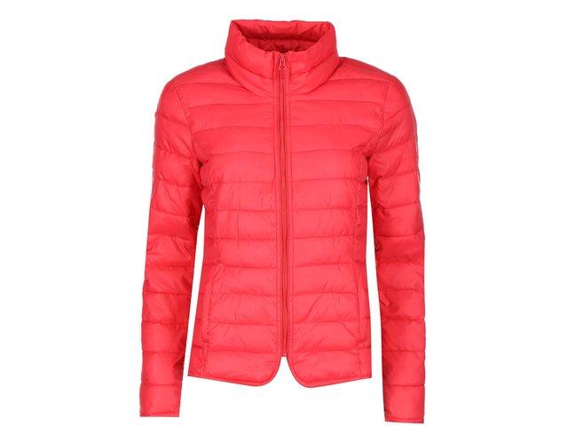 Červená lehká prošívaná bunda ONLY Tahoe Nylon