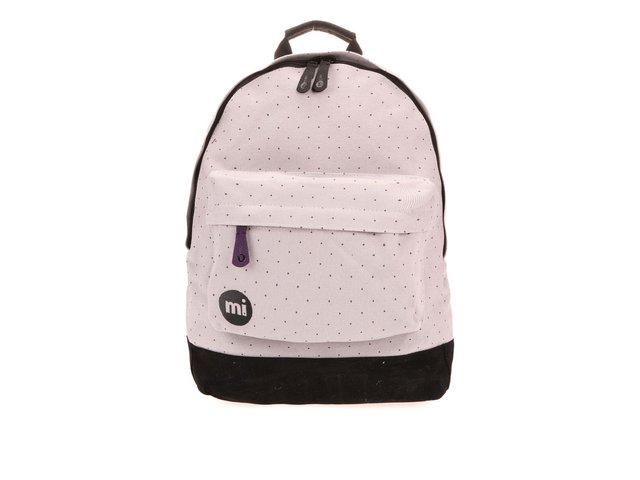 Černo-šedý unisex batoh s černými tečkami Mi-Pac Canvas Dot