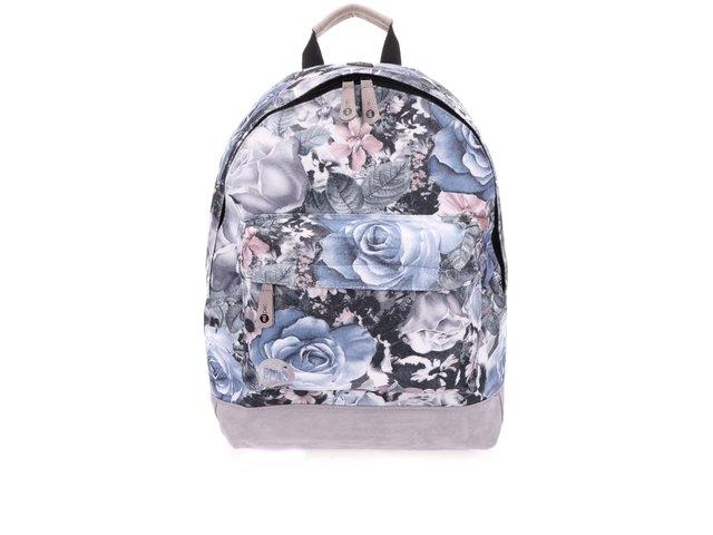Světle šedý dámský batoh s květy Mi-Pac Felt Winter Floral