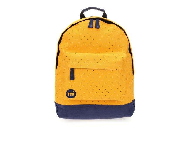 Modro-žlutý unisex batoh s modrými detaily Mi-Pac Canvas Dot