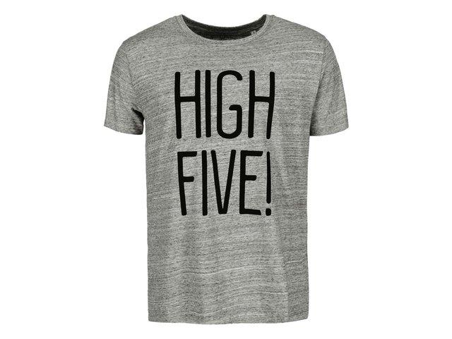 Šedé pánské žíhané triko ZOOT Originál High Five