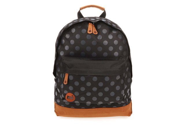 Hnědo-černý unisex batoh s puntíky Mi-Pac All Polka
