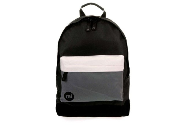 Černý unisex batoh se šedou kapsou Mi-Pac Tonal