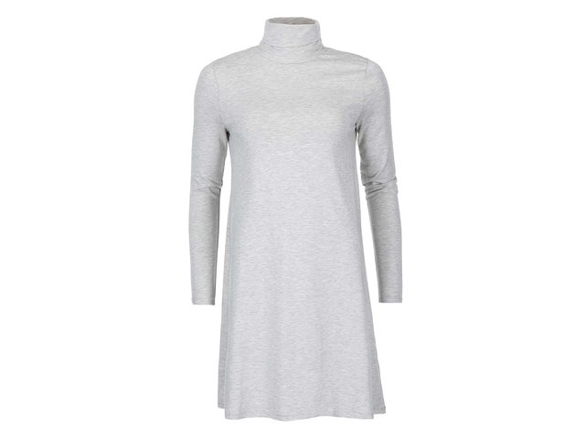 Světle šedé šaty s rolákem VILA Officiel