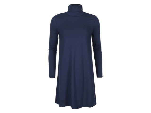 Tmavě modré šaty s rolákem VILA Officiel