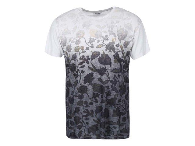 Černo-šedé triko s potiskem květin ONLY & SONS Nolan