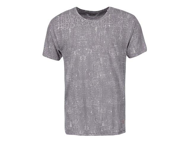Tmavě šedé vzorované triko ONLY & SONS Noam