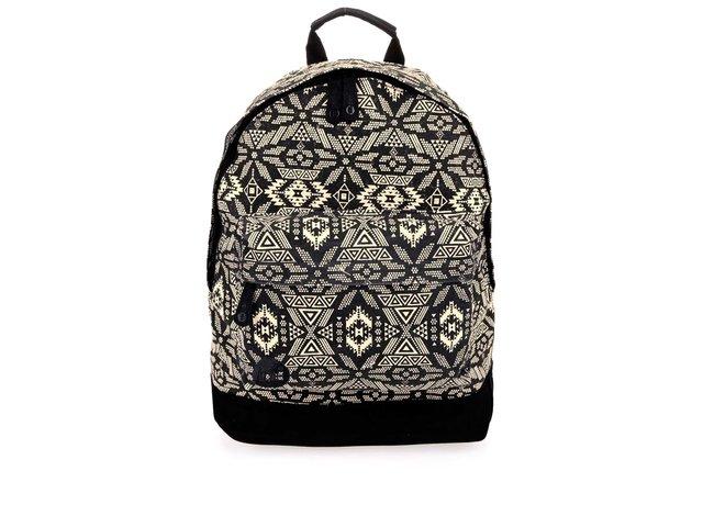 Černý unisex batoh s krémovými vzory Mi-Pac Alpine