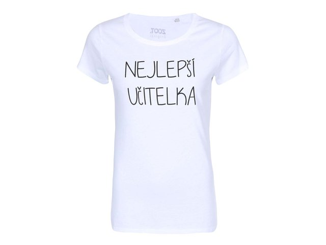 Bílé dámské triko ZOOT Originál Nejlepší učitelka