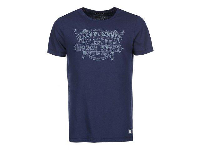 Tmavě modré triko s vintage potiskem Blend