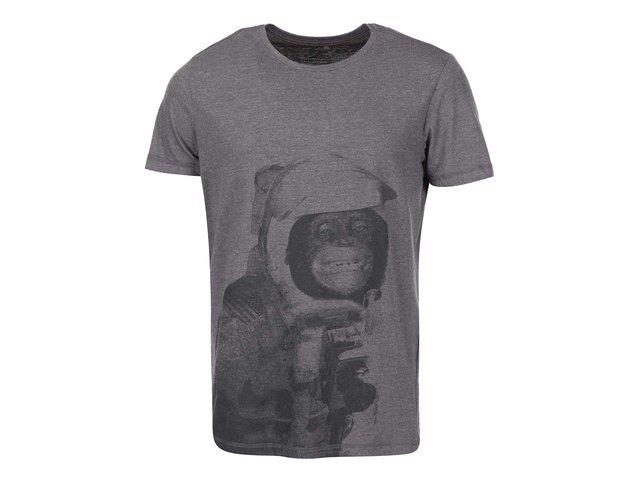 Tmavě šedé triko se šimpanzem Blend