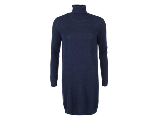 Tmavě modré rolákové šaty VILA Lo