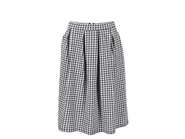 Černo-bílá kostkovaná sukně VILA Terna