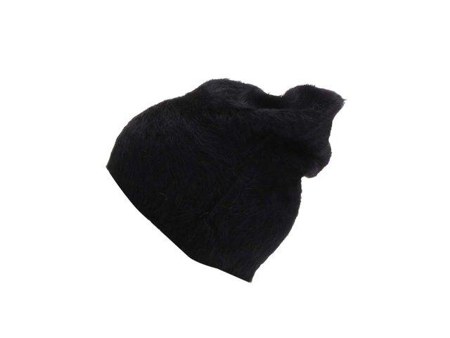 Černá chlupatá čepice Vero Moda Johanne