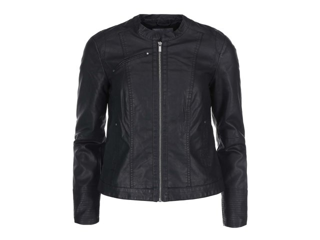 Černá koženková bunda Vero Moda Student