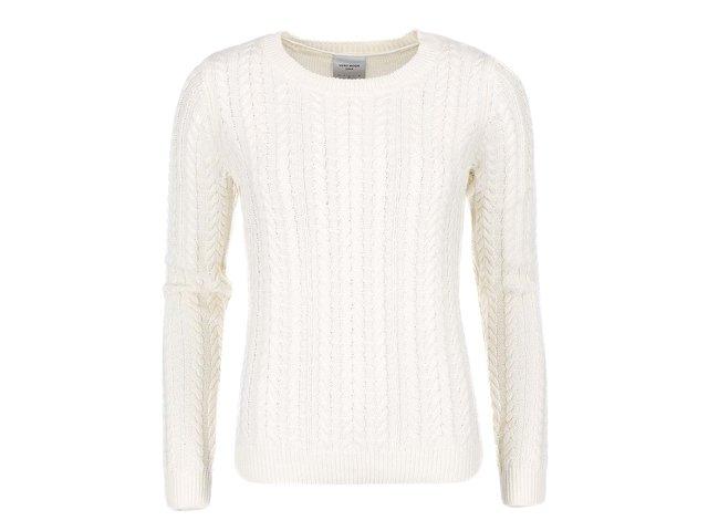 Krémový bavlněný svetr Vero Moda Walnut