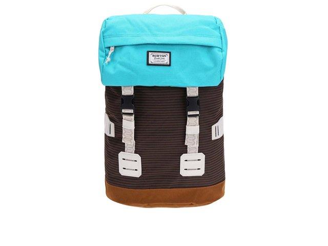 Tyrkysovo-hnědý unisex batoh s pruhy Burton Tinder