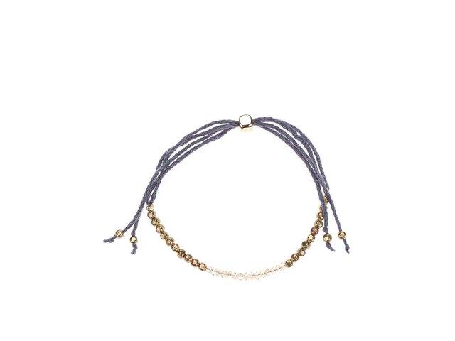 Náramek s korálky ve zlaté barvě Designsix Malcom