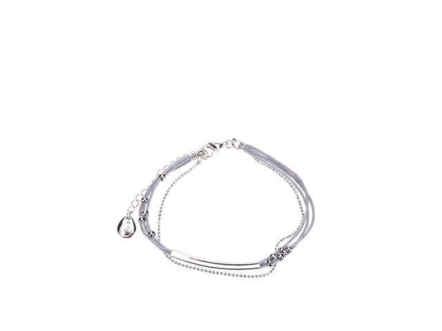 Náramek v šedo-stříbrné barvě Designsix Lewis