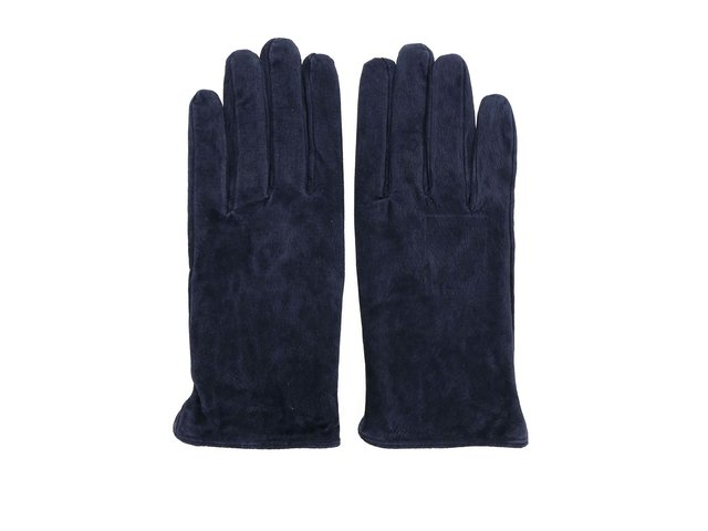Tmavě modré kožené rukavice Pieces Comet