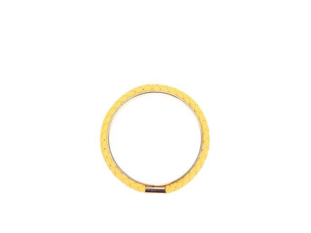 Žlutý náramek s detailem ve zlaté barvě Designsix Sisley