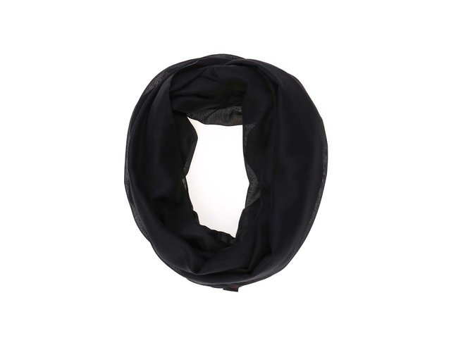 Černý dutý šátek Pieces Vanora