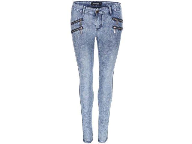 Modré strečové džíny se zipy Haily´s Anna