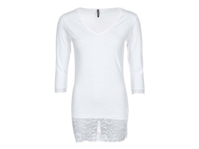Bílé tričko s krajkovými lemy Haily´s Samantha