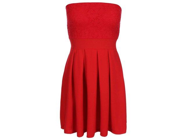 Červené minišaty s krajkou Haily´s Mariella