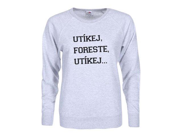 Šedá dámská mikina ZOOT Originál Utíkej Foreste