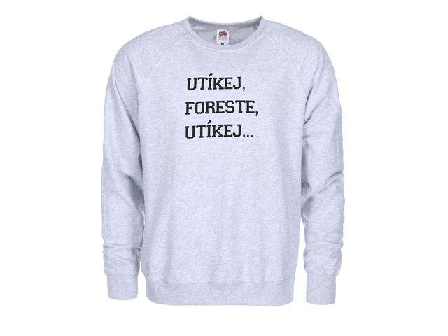 Šedá pánská mikina ZOOT Originál Utíkej Foreste